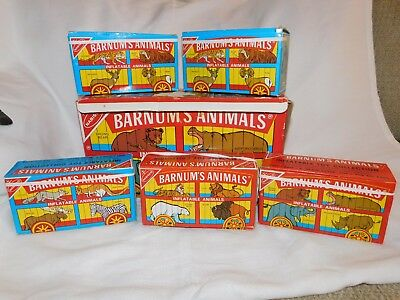 Nabisco BARNUMS ANIMALS CRACKER INFLATABLE ANIMALS Frenry In Box 1985 RARE