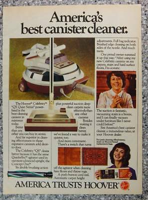 1982 Hoover Celebrity Canister Vacuum Vintage Magazine Ad Page - Vacuum Cleaners