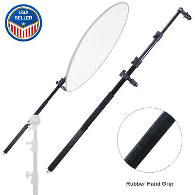 "73"" Extendable Photo Studio Lighting Reflector Holder Boom Arm Rubber Hand Grip"