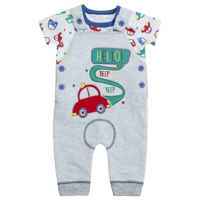 Baby Boys Car T shirt and Dungarees Set Outfit Summer Clothing NB to 12 months
