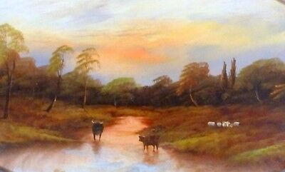 Clearance Now £175 Quality Oil  by Renowned George Cole 1810-83 'Highland Scene'