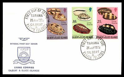 Gilbert & Ellice Islands 1975 Living Cowries Combination  Unsealed Fdc First Day