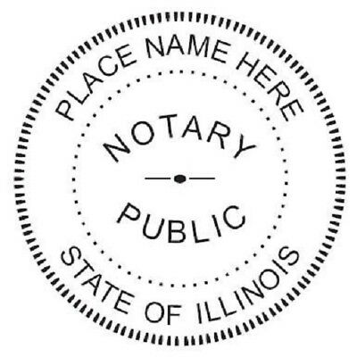 State of Illinois  | Custom Round Self-Inking Notary Public Stamp Ideal 400R