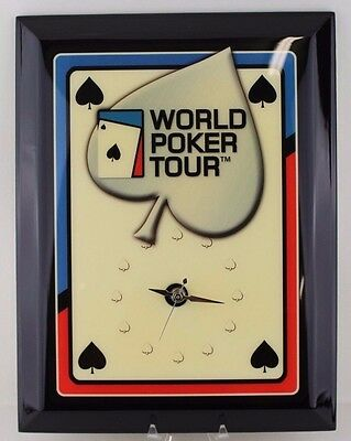 New World Poker Tour Clock   Collector Wall Clock   New Old Stock   Card Face