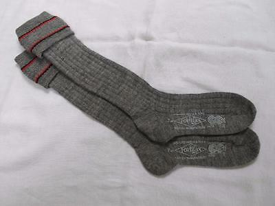 VINTAGE 1940's WW2 ERA CC41 UTILITY MARK GREY BOY'S SCHOOL EVACUEE SOCKS - 7""