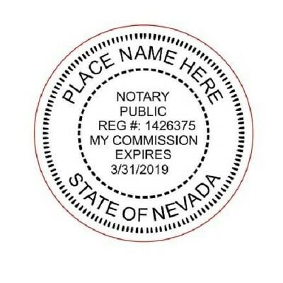 State of Nevada  | Custom Round Self-Inking Notary Public Stamp Ideal 400R