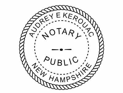 State of New Hampshire | Custom Round Self-Inking Notary Public Stamp Ideal 400R
