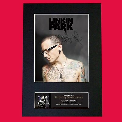 CHESTER BENNINGTON Linkin Park Autograph Mounted Signed Photo Repro Print A4 711