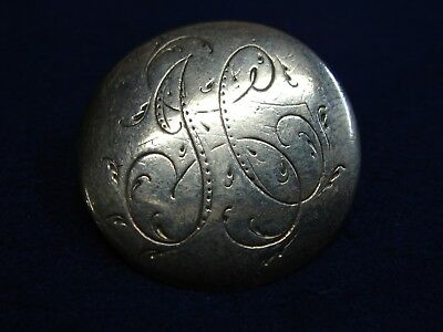 Very Old Silver Sew-On Button Partial U.K. Hallmarks 18th Or 19th Century