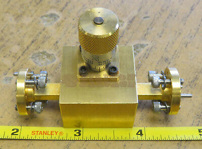 Custom Microwave Variable Waveguide Attenuator WR15 V-Band 50-75GHz