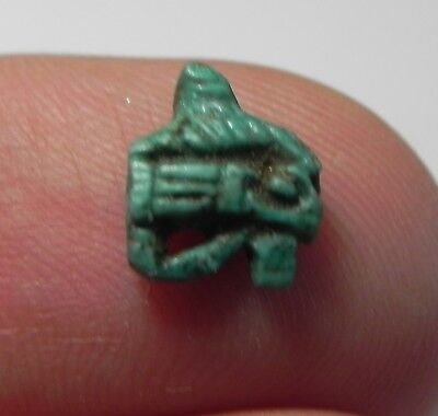 Zurqieh -As3663- Ancient Egypt, Faience Eye Of Horus Amulet. 1400 B.c