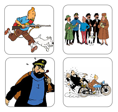 TinTin COASTER SET TIN TIN tin-tin coasters