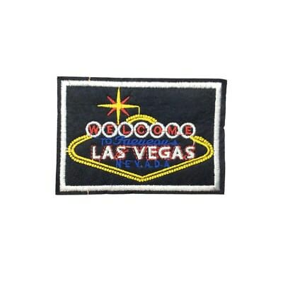 Welcome To Las Vegas Sign Iron On Patch Embroidered Casino Applique Sew BNWT/NEW