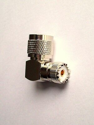 1  So-239  Female To  Pl-259 Male  Right Angle Adapter Gold Plated Contacts