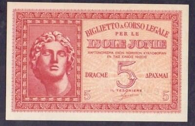 5 Drachme From Greece  Italy Isole Jonie Unc B5