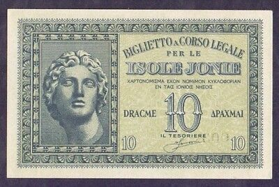 10 Drachme From Greece Italy Isole Jonie Unc B5