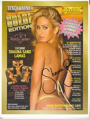 5/96 Playboy Playmate Shauna Sand Autographed Benchwarmer card advertisement!