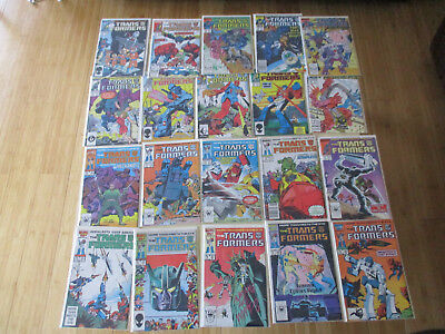 Run of 1987 COPPER AGE MARVEL TRANSFORMERS #21-40 COMIC BOOKS- 1st Appearances