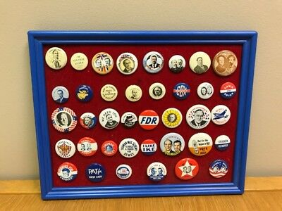 United States Presidential Button Collection 38Pc 1972 Reproduction (S10013922)