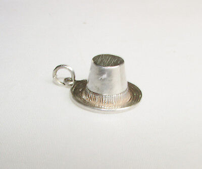 Vintage solid silver old style hat charm