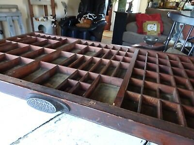 Industrial Colding & Co Printers Letterpress Typeset Tray Drawer~ 96 sections