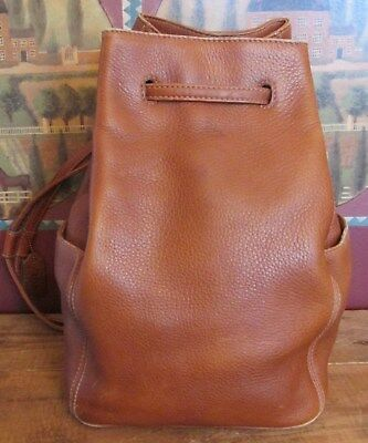 Vintage Coach 4922 Brown Pebbled Leather Sonoma Drawstring Bucket Backpack Bag