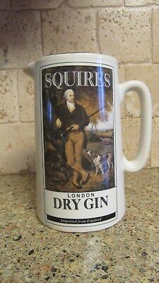 Squires London Dry Gin England Pitcher Pub James & Co. Ltd. Pottery Goldprint