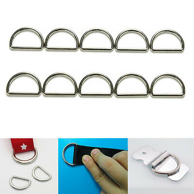 Lot Metal D Ring Buckle Fit for Strapping Webbing Purse Leather Bag Crafts