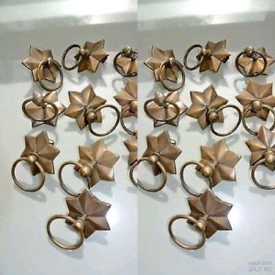 20 STAR RINGS small knob pulls handles door old antique style drops knobs 60mm