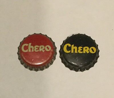 2 Vintage Chero cork lined soda bottle caps 2 different