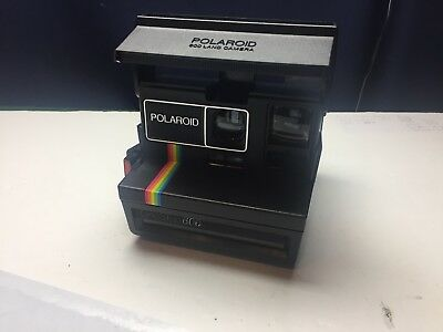Polaroid Spirit (One Step) 600 Rainbow Stripe Instant Camera.*Film Tested*