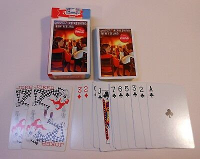 """Vintage Coca Cola 1963 """"Refreshing New Feeling"""" Deck of Playing Cards"""