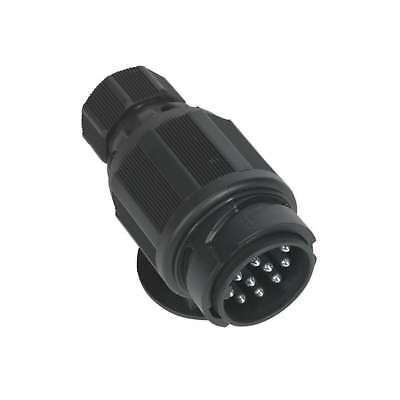 Sealey Towing Plug 13-Pin Euro Plastic 12V Twin Inlet Towing Equipment TB54