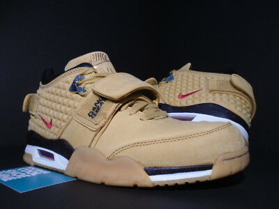 784e3e4ee4cc40 Nike Air Trainer Victor Cruz Premium Wheat Haystack Red Black 812637-700 8