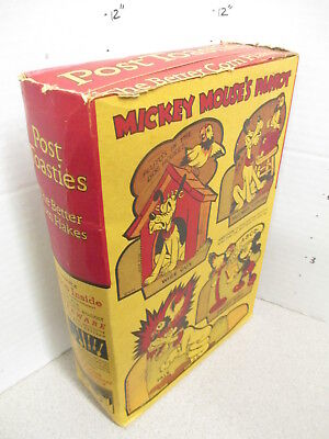 cereal box Disney POST Pluto 1930s Mickey Mouse Parrot paper doll cutout COMPLET