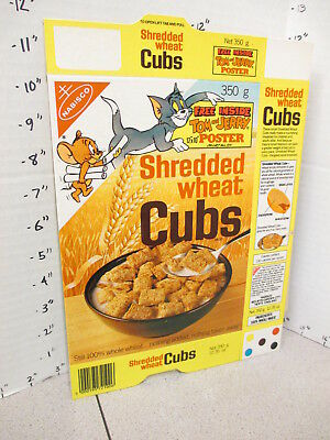cereal box UK 1981 Nabisco CUBS MGM cartoon Tom & Jerry premium poster