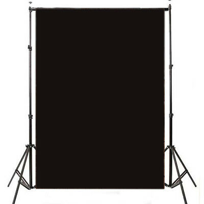 Solid Black Polyester Photography Backdrop Background Photo Studio Props 3x5ft