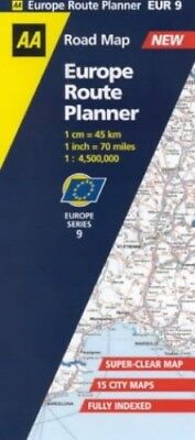 Europe Route Planner Map (AA Road Map Europe Series) Sheet map, folded Book The