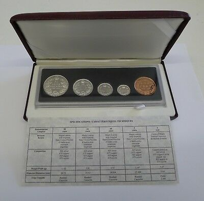 KMS Kanada 90th Anniversary Proof Coin Set 1908 -1998 Silber
