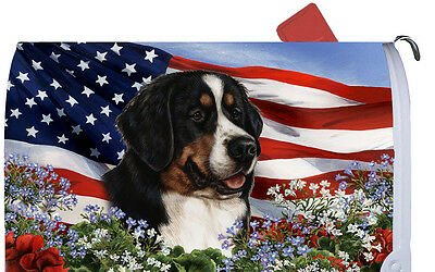 Patriotic Mail Box Cover - Bernese Mountain Dog 09051