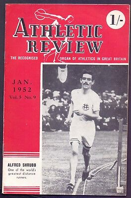 30 page Magazine,Athletics Review Vol 5 No 9 January 1952   (YT1)