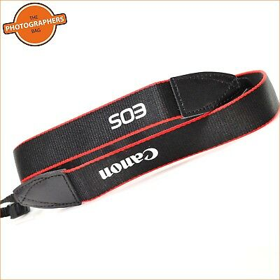 Canon EOS Vinyl Lettering  Narrow / Thin approx 2cm wide Camera Strap Free UK PP