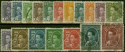 Iraq 1934 set of 18 SG172-189 Fine Used