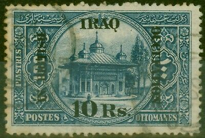 Iraq 1919 10R on 100pi Indigo SG14 Fine Used