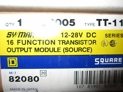 Square D SY/Max 16 function transistor output module New