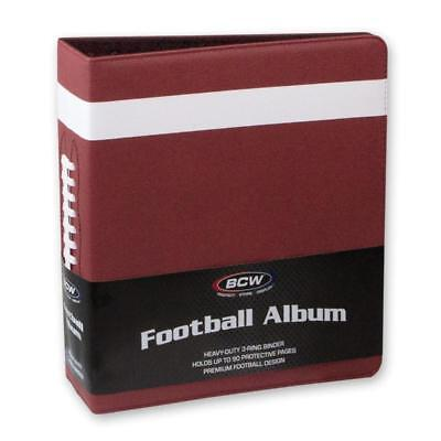 """1 BCW Brand 3"""" Premium Brown Football Collector Album with Textured Cover"""