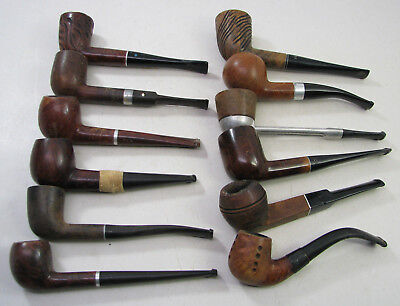 Lot Of 12 Vintage Estate Smoking Pipes Dr Grabow Kaywoodie Imported Briar Falcon