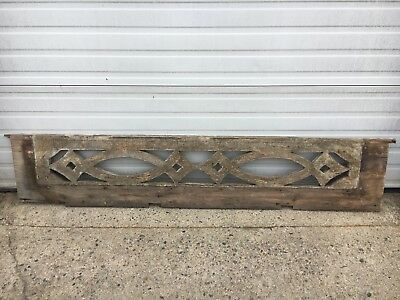 "c1880 Victorian gingerbread porch fretwork panel delicate cut out detail 76""x15"""