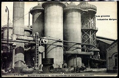 cpa Les Grandes Industries Belge Hauts-Fourneaux . Ets Cockerill . Seraing. 1904