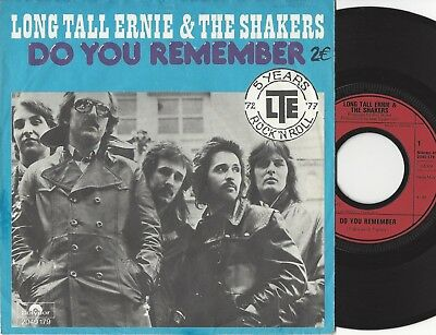"""Single 7"""" LONG TALL ERNIE & THE SHAKERS - Do You Remember / Cocktails... - 1977"""